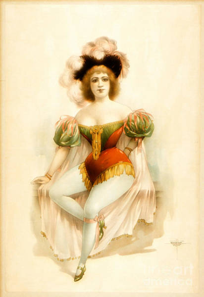 Burlesque Dancer Photograph - Chorus Girl Costume 1889 by Padre Art