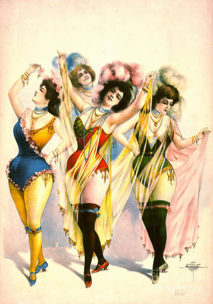 Burlesque Dancer Photograph - Chorus Girls 1899 by Padre Art