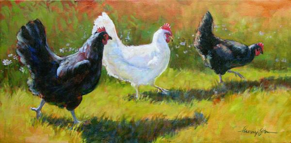 Wall Art - Painting - Chorus Girls  by Tracie Thompson