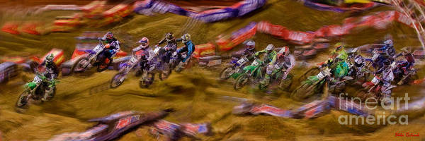 Photograph - Chris Alldredge Hole Shot Ama Supercross 250sx by Blake Richards