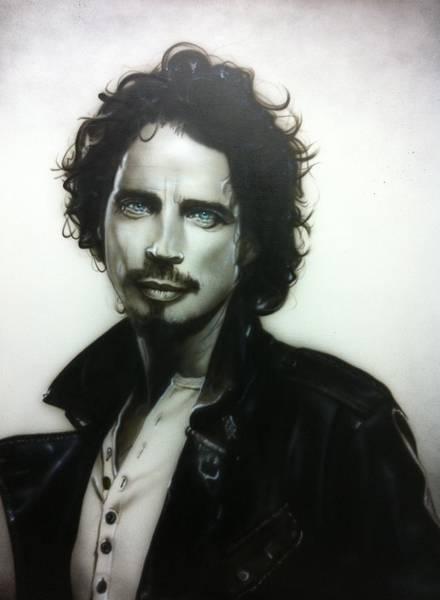 Grunge Painting - Chris Cornell by Christian Chapman Art