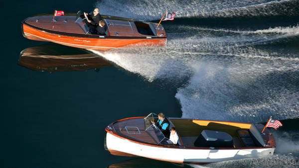Photograph - Chris-craft Aerial by Steven Lapkin