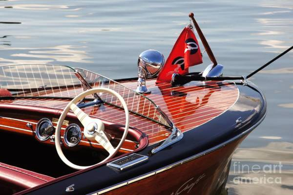 Powerboat Photograph - Chris Craft Deluxe Runabout by Neil Zimmerman