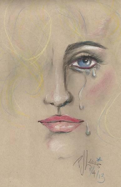 Tear Drawing - Chris by PJ Lewis