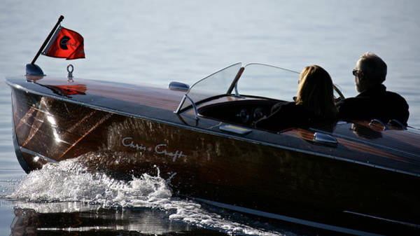 Outboard Engine Photograph - Chris Racer by Steven Lapkin