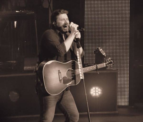 Tab Photograph - Chris Young On Stage by Dan Sproul