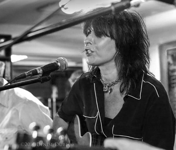 Photograph - Chrissie Hynde Acousticbw By Denise Dube by Denise Dube