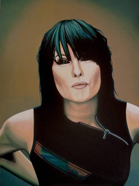 Classy Wall Art - Painting - Chrissie Hynde Painting by Paul Meijering