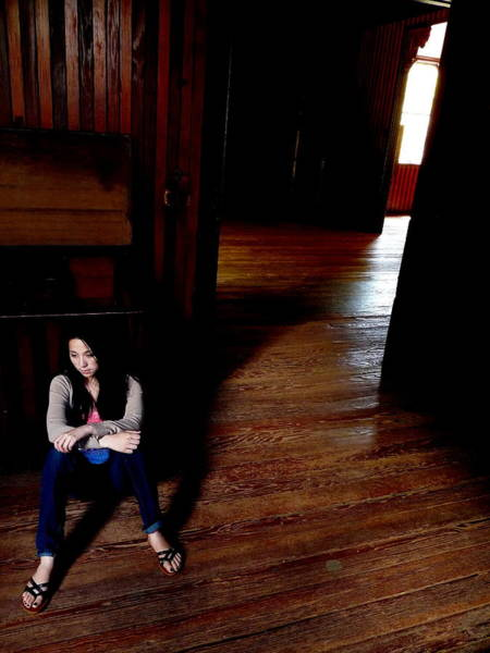 Photograph - Chrissie In Barn by Jeff Lowe