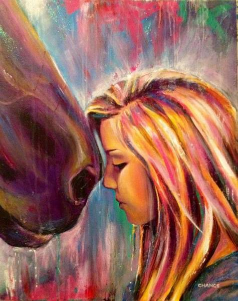 Painting - Chrissy And Rusty by Robyn Chance