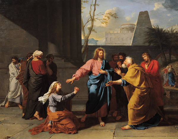 Wall Art - Photograph - Christ And The Canaanite Woman, 1783-84 Oil On Canvas by Jean-Germain Drouais