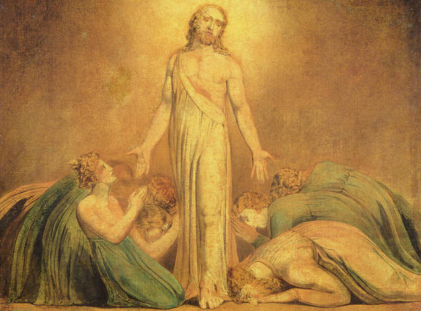 Disciple Wall Art - Painting - Christ Appearing To The Apostles After The Resurrection by William Blake