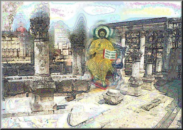 Digital Art - Christ At The Capernaum by Glenn  Bautista