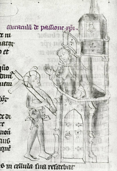 Pontius Pilate Wall Art - Painting - Christ Bearing Cross by Granger