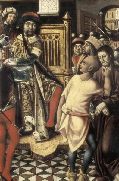 Pontius Pilate Wall Art - Photograph - Christ Before Pilate. 1476 - 1500. A by Everett