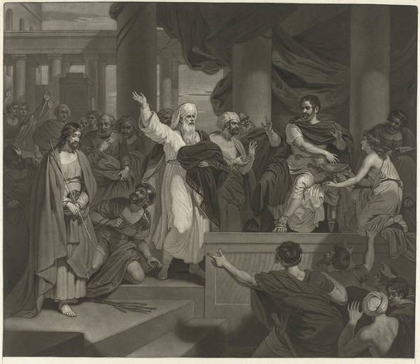 Pontius Pilate Wall Art - Drawing - Christ Before Pilate, Charles Howard Hodges by Charles Howard Hodges And Robert Smirke