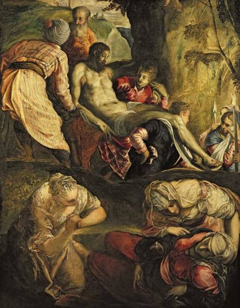 Wall Art - Photograph - Christ Carried To The Tomb, Late 1550s Oil On Canvas by Jacopo Robusti Tintoretto