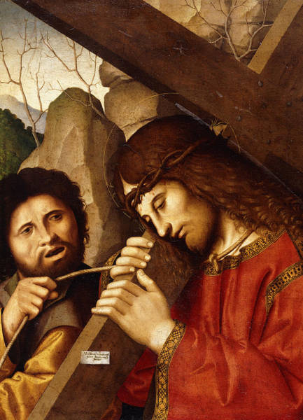God The Father Wall Art - Painting - Christ Carrying The Cross by Marco Palmezzano