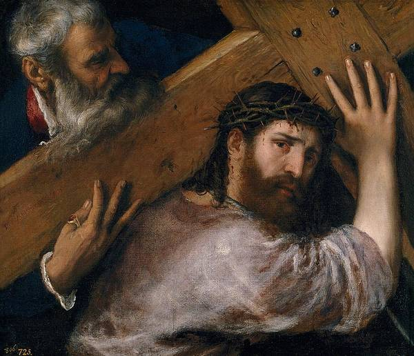 Prado Wall Art - Painting - Christ Carrying The Cross by Titian