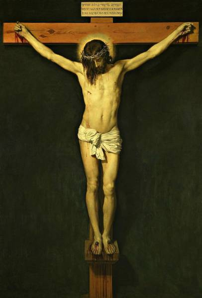 Painting - Christ Crucified 1632 By Diego Velazquez by Movie Poster Prints