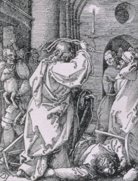Wall Art - Painting - Christ Expelling The Moneychangers From The Temple by Albrecht Durer or Duerer