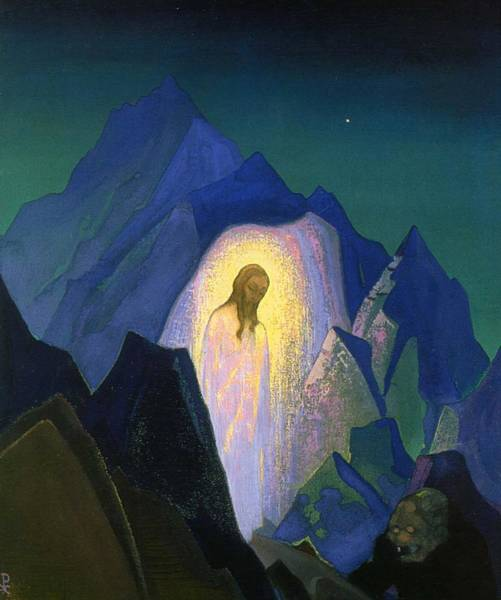 Nk Roerich Painting - Christ In Desert by Nicholas Roerich