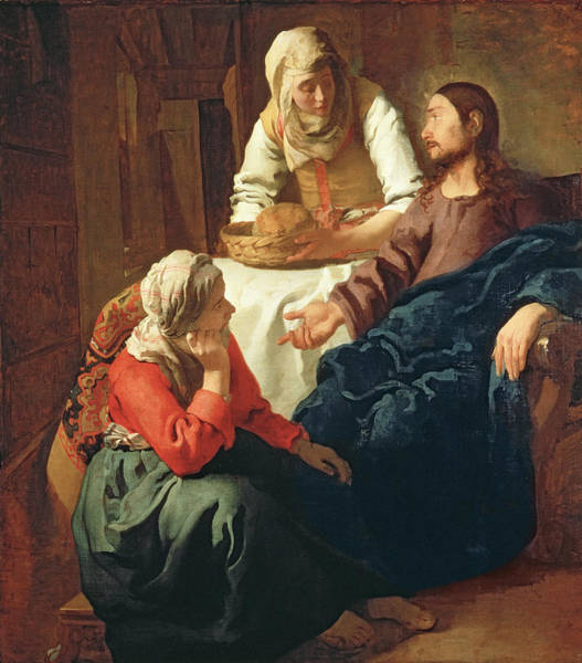 Christ In The House Of Martha And Mary Art Print