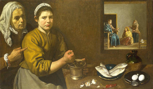 Velazquez Wall Art - Painting - Christ In The House Of Martha And Mary by Diego Velazquez