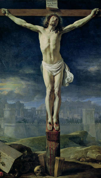 Pain Painting - Christ On The Cross by Philippe de Champaigne