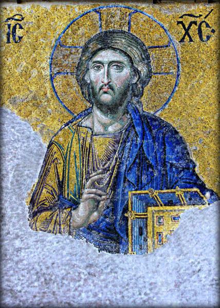 Sacred Heart Photograph - Christ Pantocrator II by Stephen Stookey