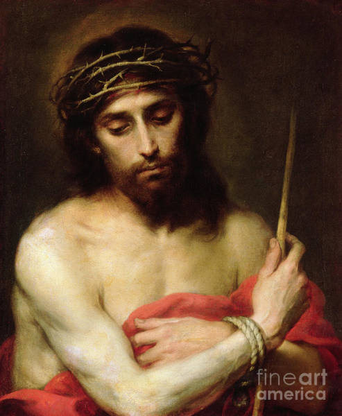 Drapes Painting - Christ The Man Of Sorrows by Bartolome Esteban Murillo