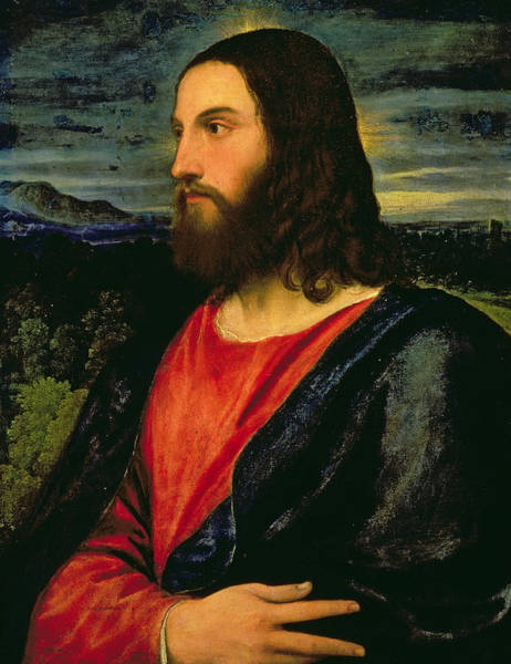 Divine Love Wall Art - Painting - Christ The Redeemer by Titian
