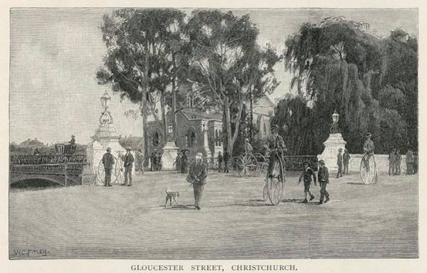 Wall Art - Drawing - Christchurch, New Zealand - Gloucester by Mary Evans Picture Library