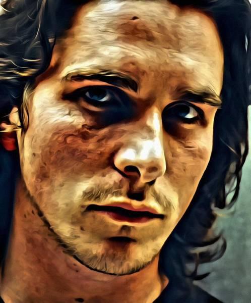 Painting - Christian Bale Portrait by Florian Rodarte