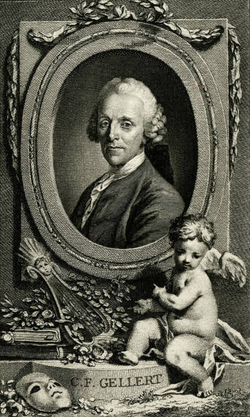 1715 Drawing - Christian Furchtegott Gellert  German by Mary Evans Picture Library