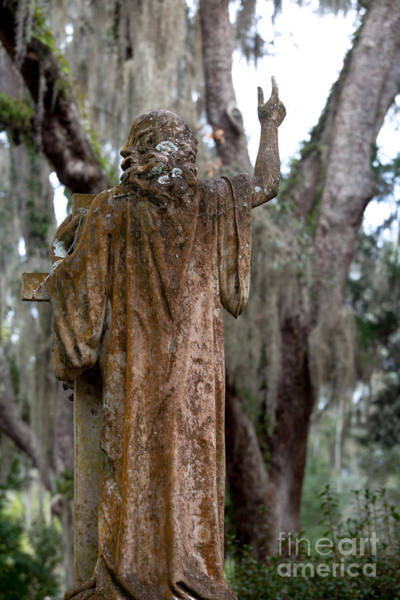 Photograph - Christian Statue With Finger Pointing Toward Heaven by Jo Ann Tomaselli