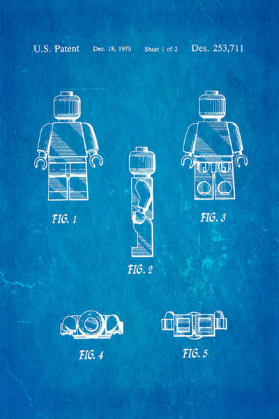 Inventor Photograph - Christiansen Lego Figure 2 Patent Art 1979 Blueprint by Ian Monk