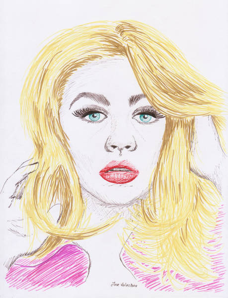 Drawing - Christina Aguilera Sketch by M Valeriano
