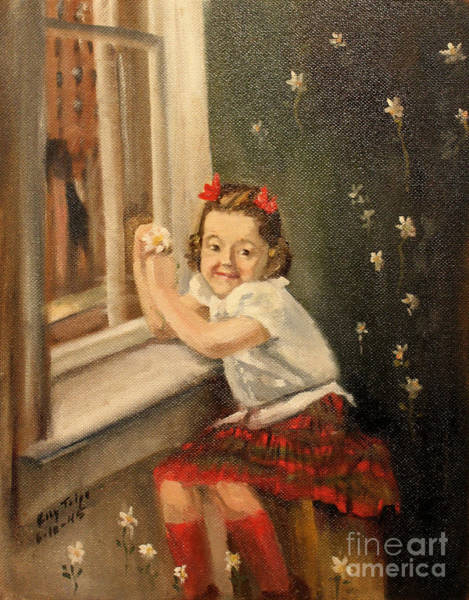 Painting - Christine By The Window - 1945 by Art By Tolpo Collection