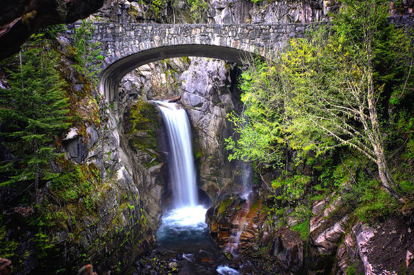 Christine Falls Photograph - Christine Falls - Mt. Rainier National Park by Kevin Pate