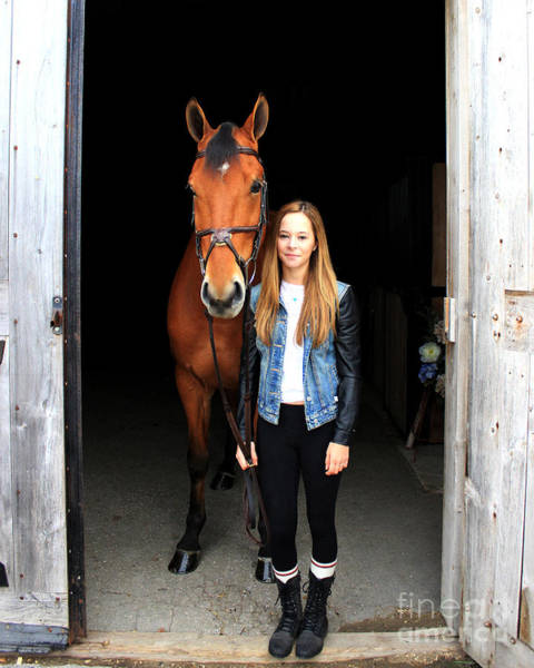 Photograph - Christine Stewie 2 by Life With Horses