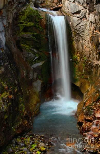 Mt. Adams Photograph - Christine Waterfall by Adam Jewell