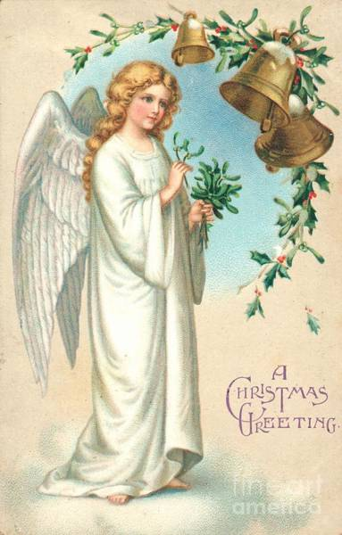 Bells Painting - Christmas Angel by English School
