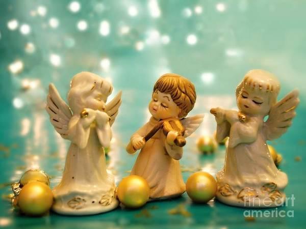 Carol Singing Photograph - Christmas Angels 3 by Katerina Vodrazkova