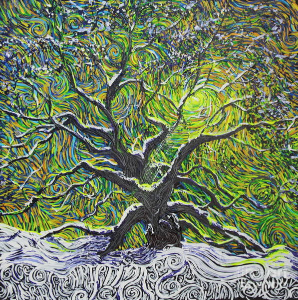 Painting - Christmas At Angel Oak by Stefan Duncan