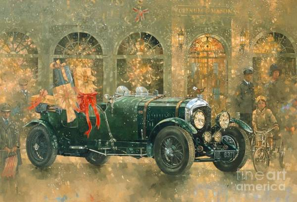 Shopping Painting - Christmas At Fortnum And Masons by Peter Miller