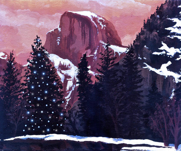 Coolidge Painting - Christmas At Half Dome by Sara Coolidge