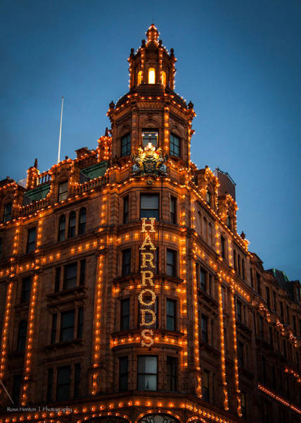 Photograph - Christmas At Harrods by Ross Henton