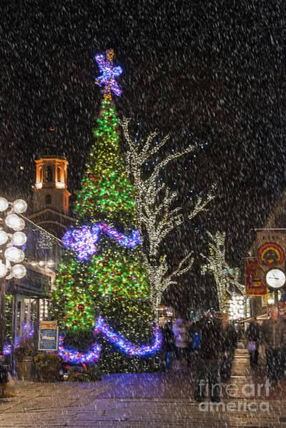 Photograph - Christmas At Quincy Market Boston by Juli Scalzi