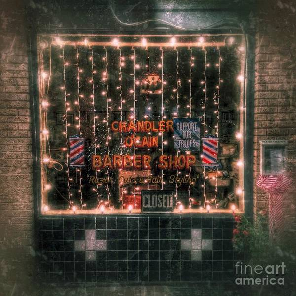Photograph - Christmas At The Barbershop In Canton Mississippi by T Lowry Wilson